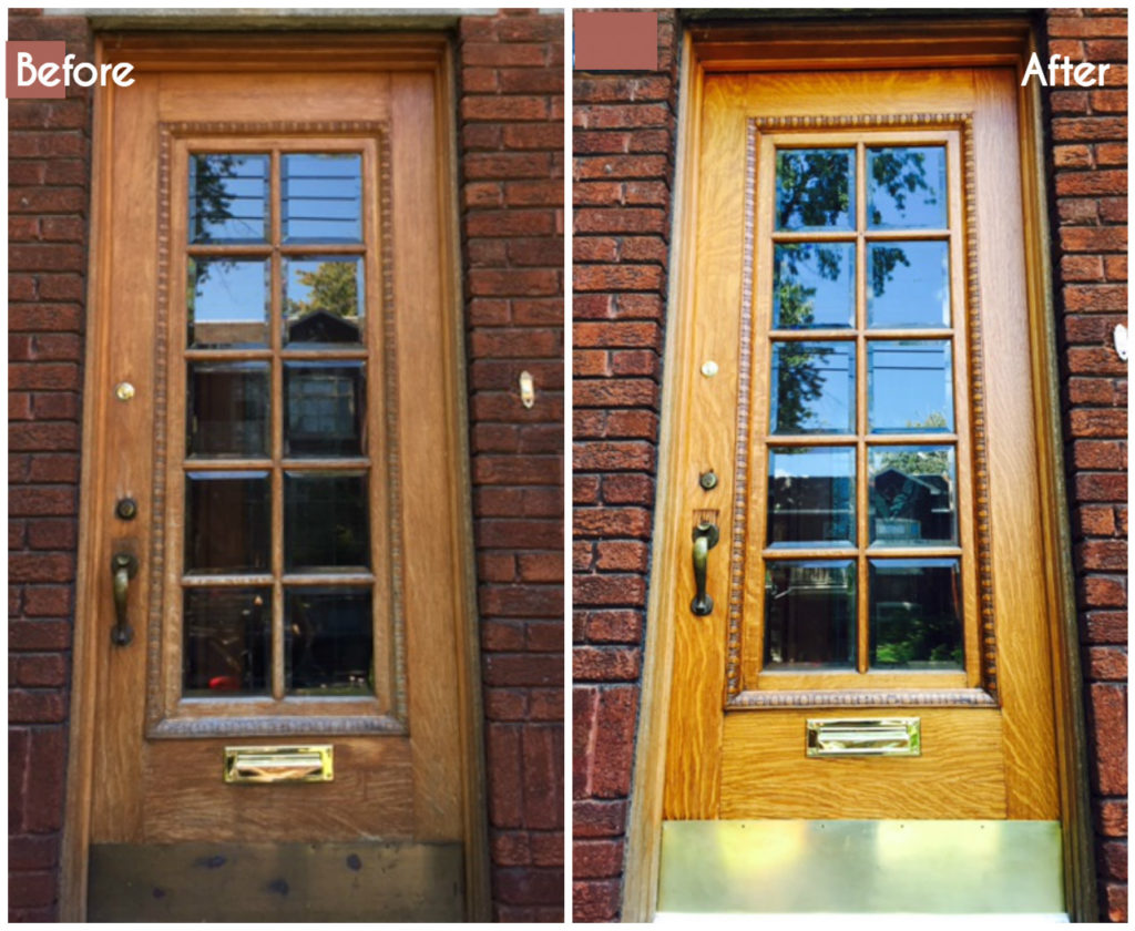 How to restore an exterior wood door diy montreal for Wood exterior front doors