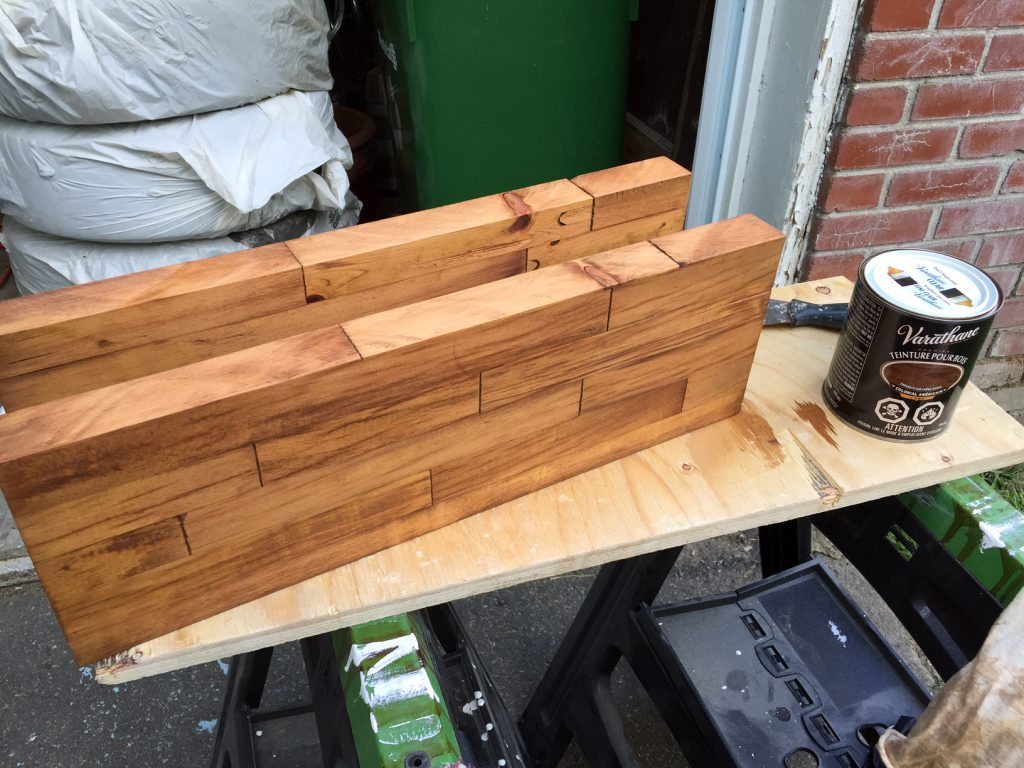 butcher block shelf