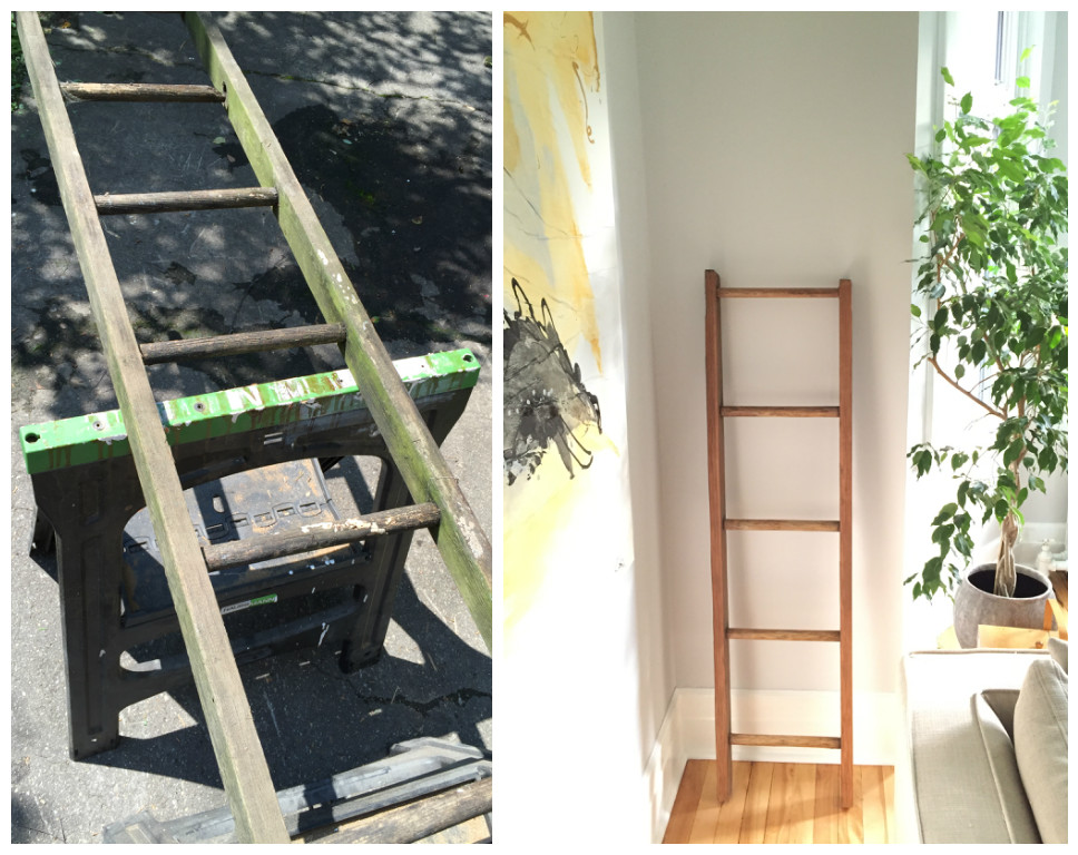 DIY decorative wall ladder