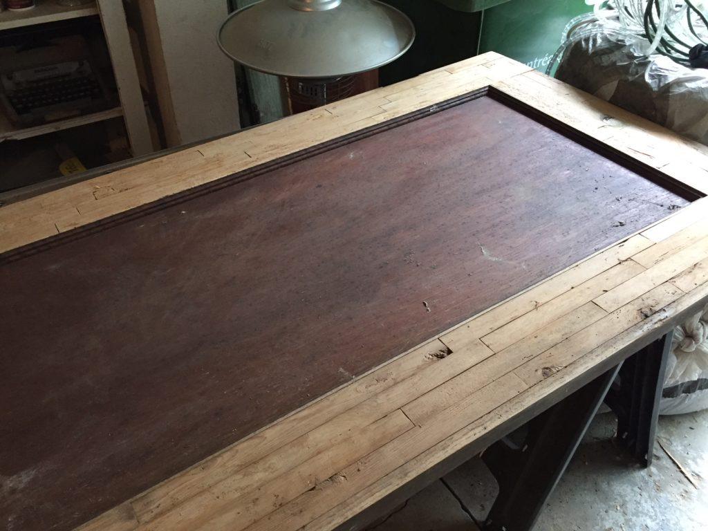 Hairpin leg butcher block coffee table | DIY Montreal