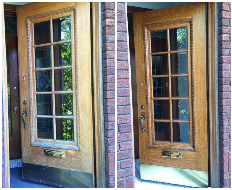 How to restore an exterior wood door DIY Montreal