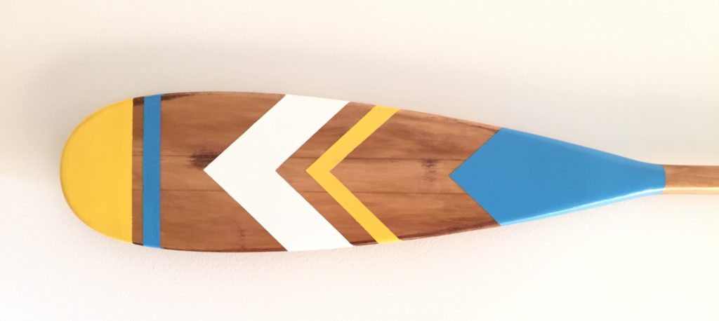 painted oar