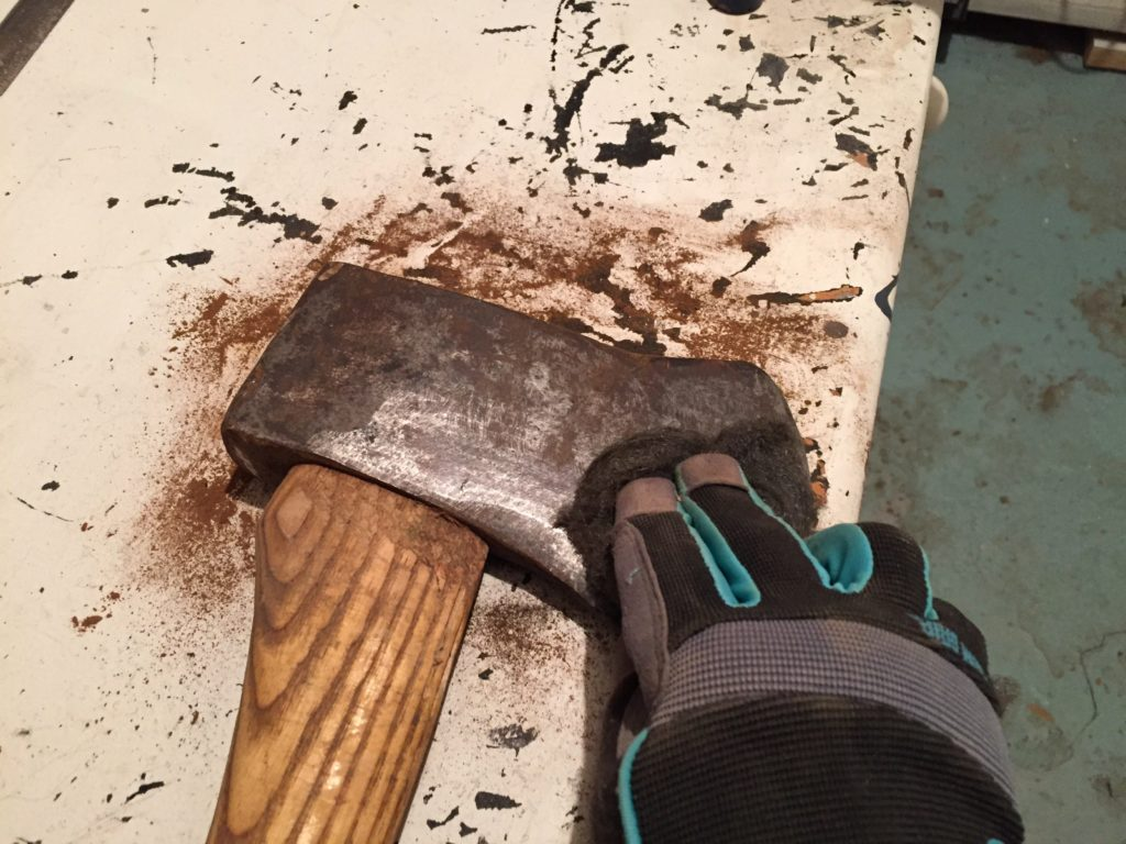 sharpen old dull axe