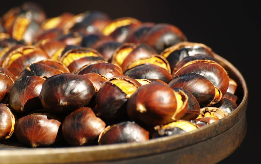 how to roast chestnuts on an open fire