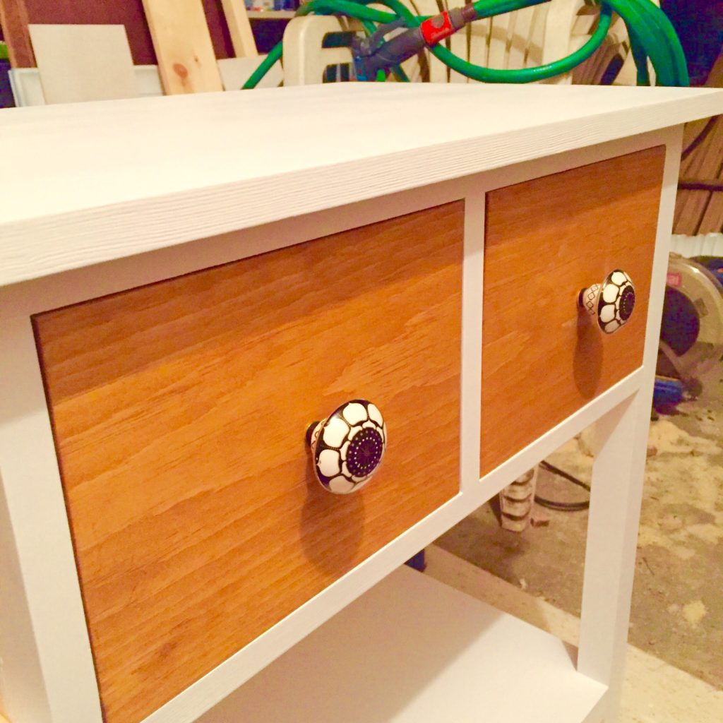 diy 3 drawer compact console table