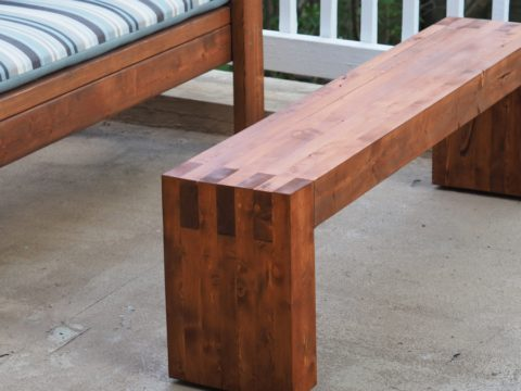 Modern 2x4 bench or coffee table