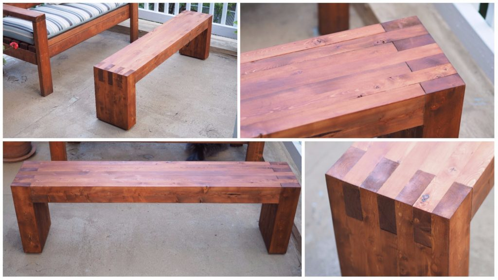 Diy Modern Outdoor Bench Made From 2x4s Diy Montreal
