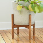 How to make a wood plant stand