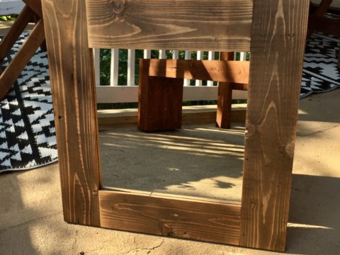 DIY Wooden mirror frame