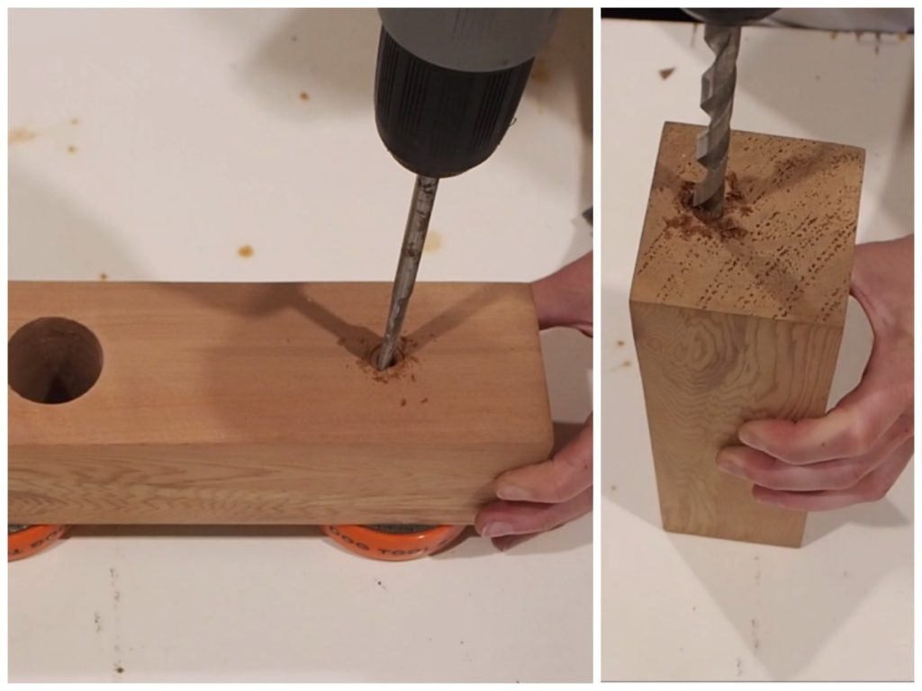 DIY Wood block Edison lam