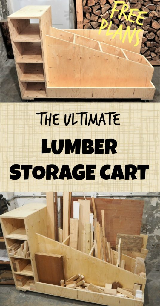 The ultimate lumber storage cart free plans diy montreal for Rolling lumber cart plans