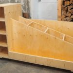 rolling mobile lumber storage rack