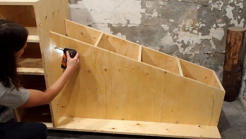 rolling mobile lumber storage rack