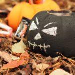 Concrete Halloween Jack-O-Lantern