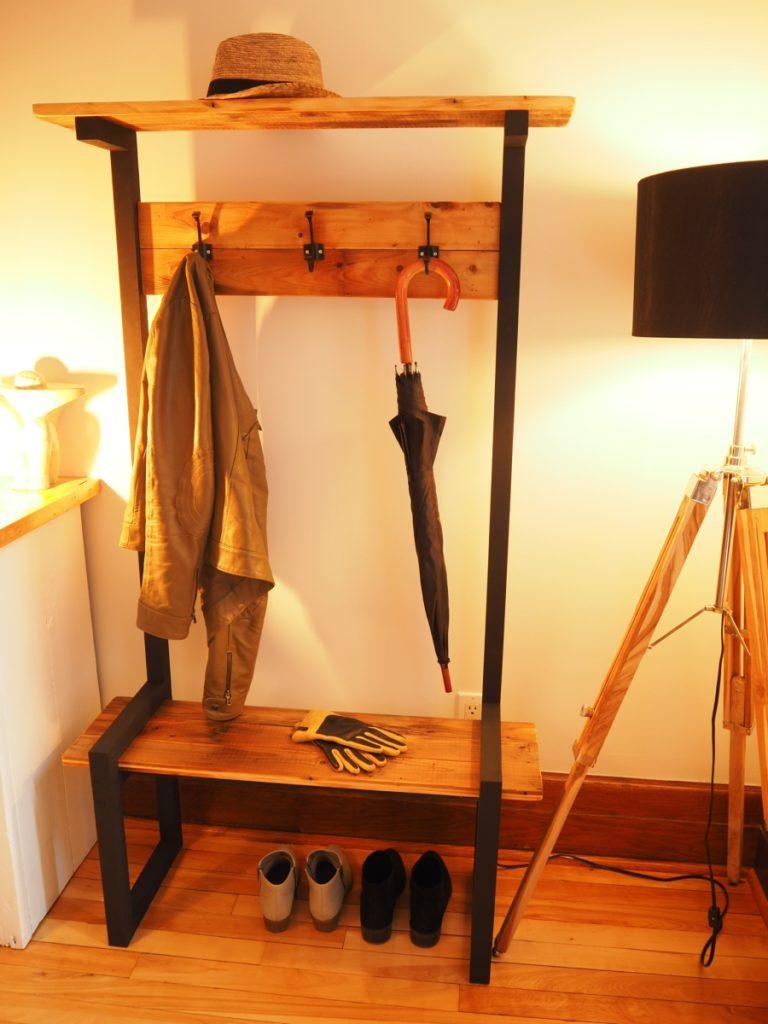 Industrial Coat Rack Bench Hall Tree Diy Montreal