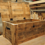 DIY Barn wood storage trunk
