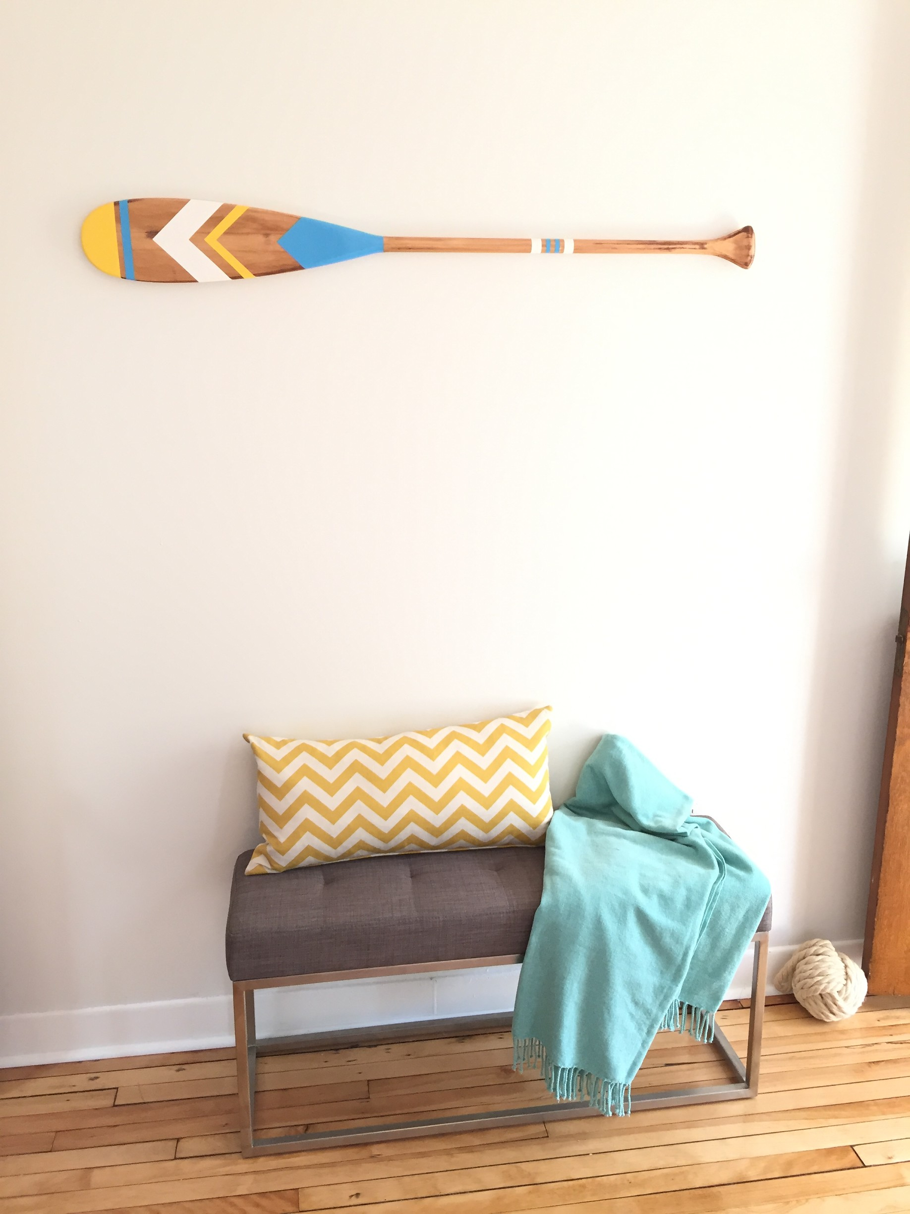 Nautical Painted Oar Diy Montreal