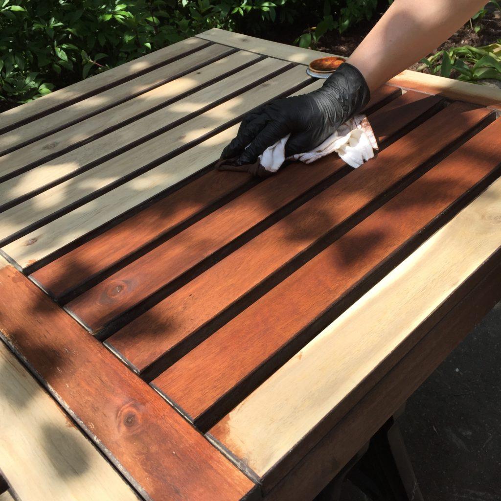 Refinish Ikea Laro Wood Patio Furniture