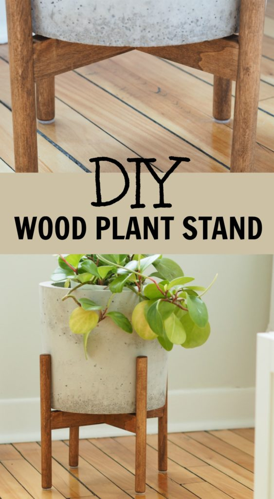 How to make a wood plant stand. how to make a DIY mid century plant stand. DIY plant stands, DIY mid century plant stands
