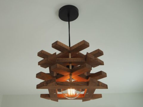 How to make a pendant light out of wood