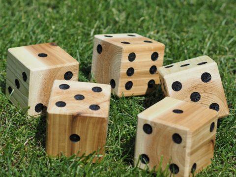 DIY lawn dice outdoor game