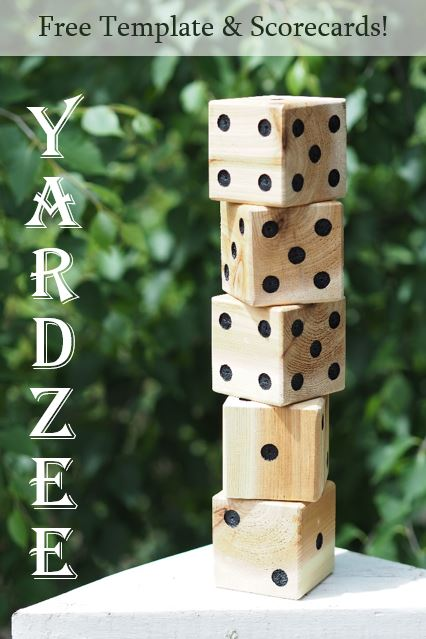Diy Yardzee Yard Dice Free Template And Scorecards Diy