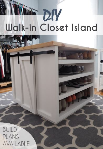 Build A 4 Sided Walk In Closet Island Diy Montreal