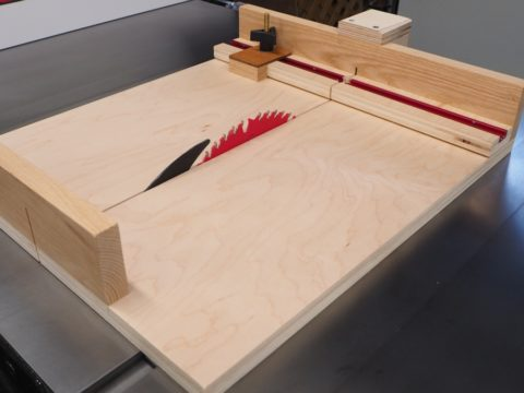 Small parts table saw sled