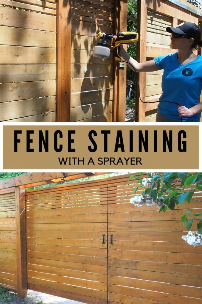 Picture of: How To Seal And Stain A Fence With A Sprayer Diy Montreal