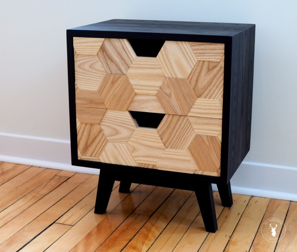 Mid Century Nightstand With Hexagon Pattern Drawers Diy Montreal